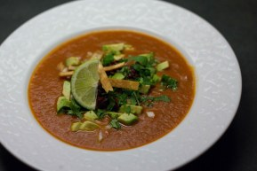 Monday night Sopa de Azteca (Tortilla Soup)