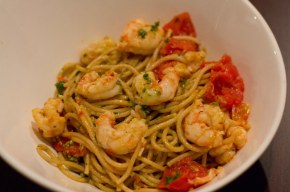 Simple BC Spot Prawn pasta