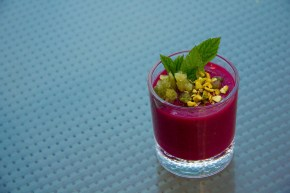 Beet & Cherry Gazpacho with Mint Granita