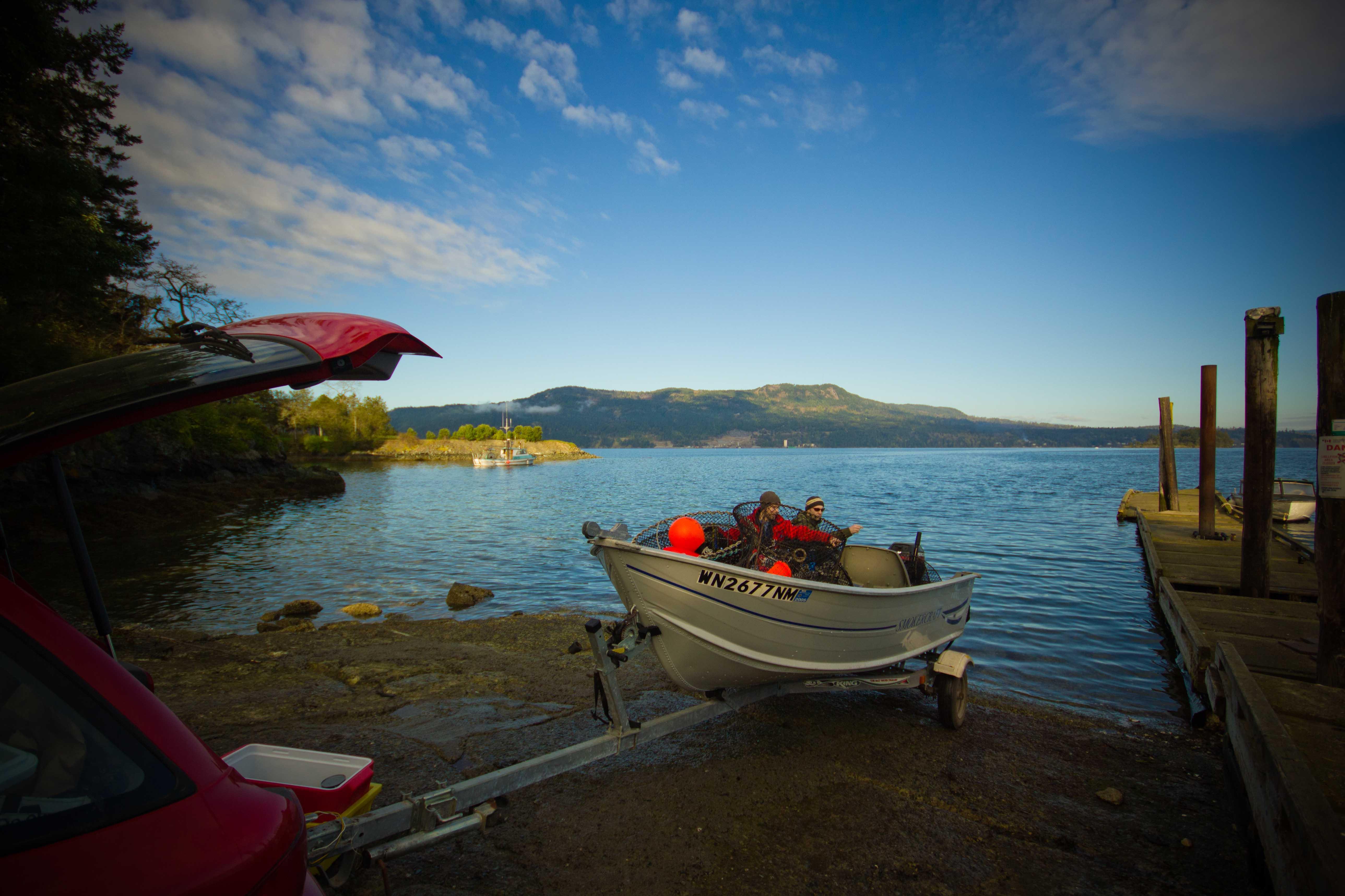 Prawning On Vancouver Island