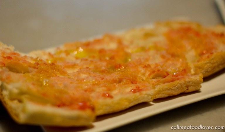 ":Santa Caterina Cuines Barcelona pan con tomate"""