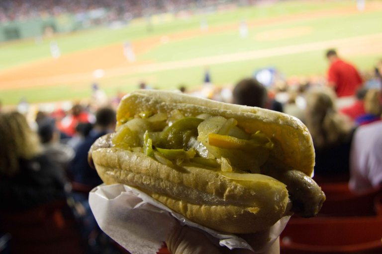 """Boston Fenway Park hot dog"""