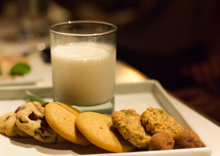 Cookies and milk.