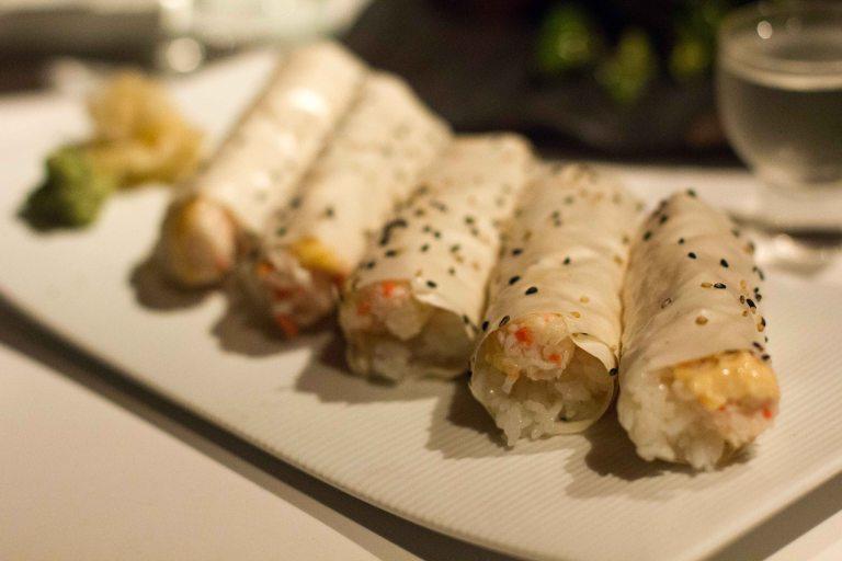 """katsuya baked crab hand roll"""