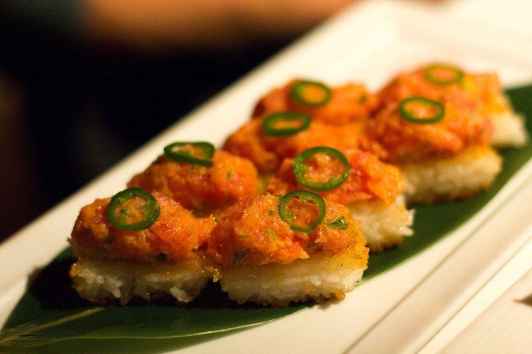 """Katsuya crispy rice spicy tuna"""