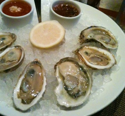 Selection of east coast oysters.