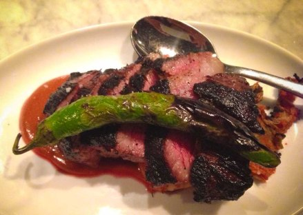 """Joule Seattle short rib steak"""