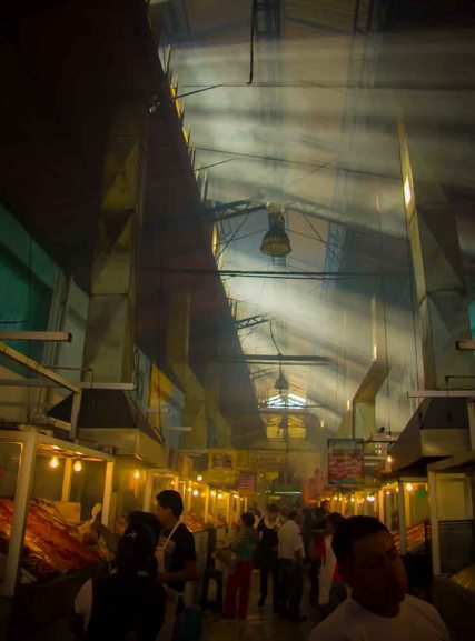 "Not hard to wonder why this is dubbed the ""smoky hall"" at the Mercado 20 de Noviembre."