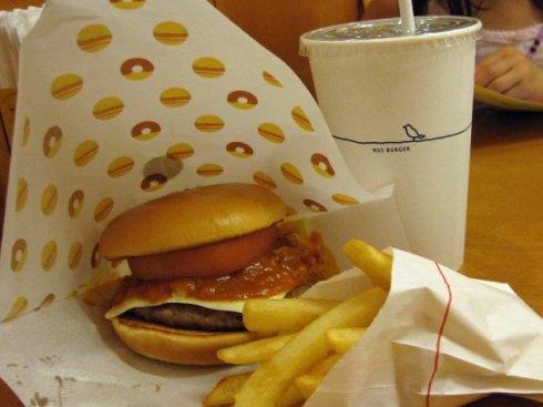 Chili cheese burger from Mos Burger