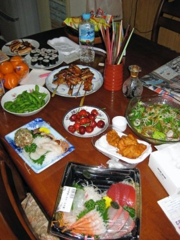 """The results of one of our """"picky picky"""" dinners."""