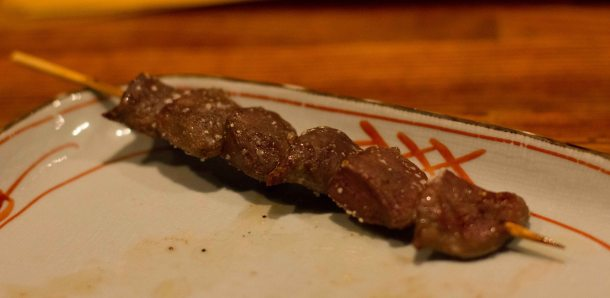 Crunchy gizzard - I contemplated what a gizzard was as I chewed through the delicious pieces.