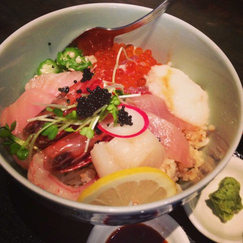 Deliciousness... Day 7 - Chirashi sushi with so many tasty bits