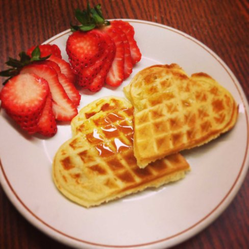 Deliciousness... Day 8 - being surprised with heart shaped waffles sure helps to break out of a work week slump