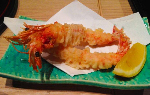 """sushi ina kyoto ebi tempura"""