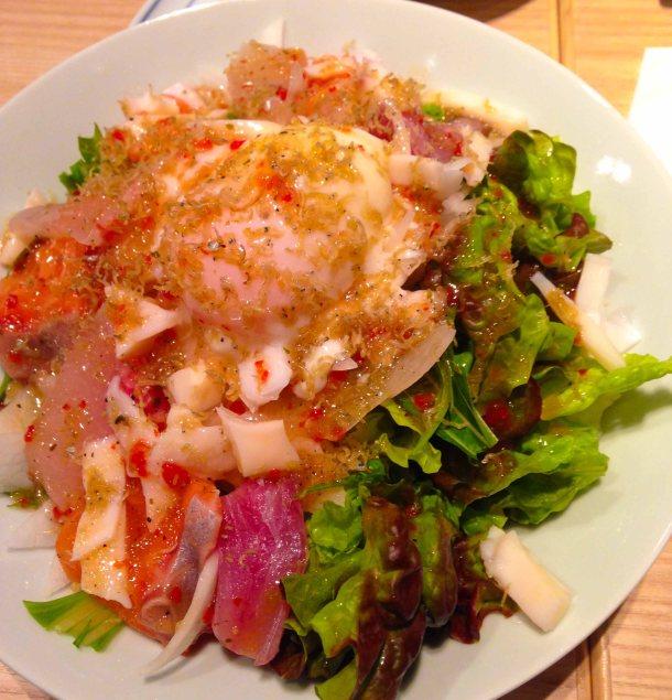 """Sushiina Kaisen Salad - seafood salad"""
