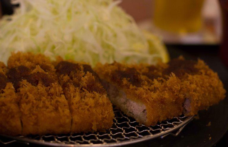 I splurged and ordered the small size Kurobuta rosu (loin).