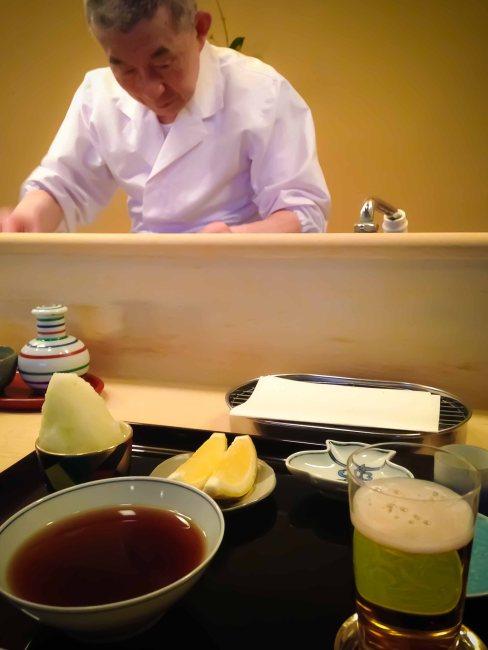 Rakutei Tokyo tempura counter
