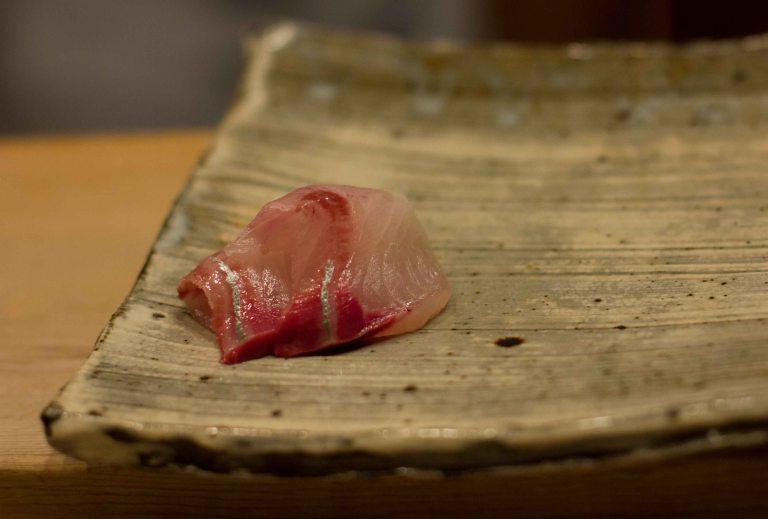 """Sushi Kanesaka Tokyo hamachi"""