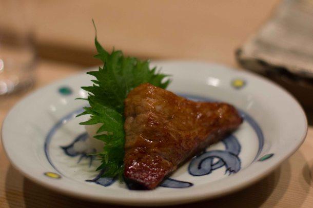 """Sushi Kanesaka Tokyo tuna cheek"""