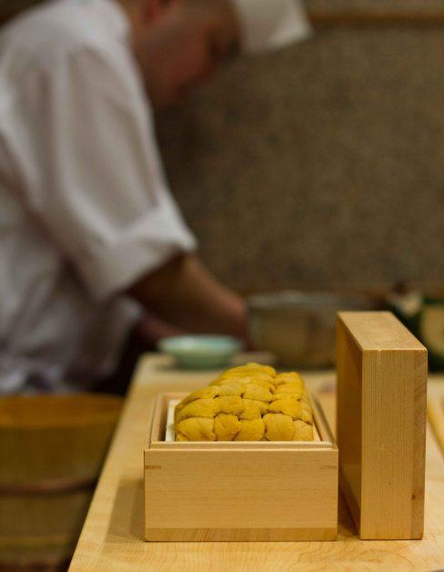 """Sushi Kanesaka Tokyo uni box"""