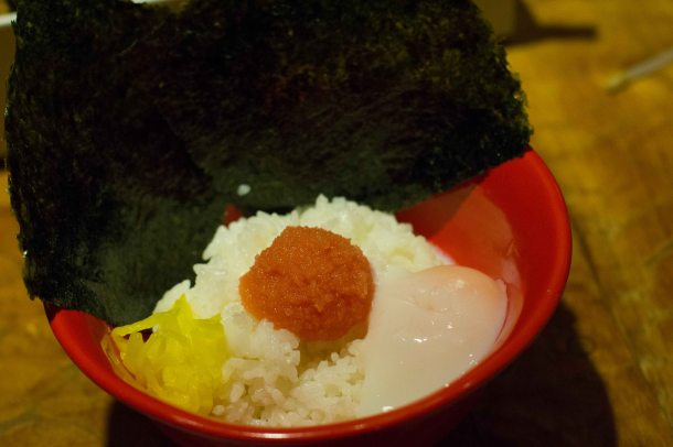 My dad also ordered a rice topped with mentaiko and an onsen tamago. Don't ask me why, but it's things like this dish that epitomize my love for food in Japan.
