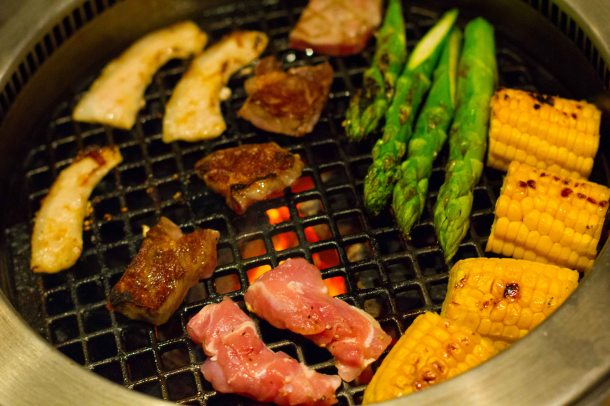 """Issunboushi Kyoto yakiniku beef vegetables"""