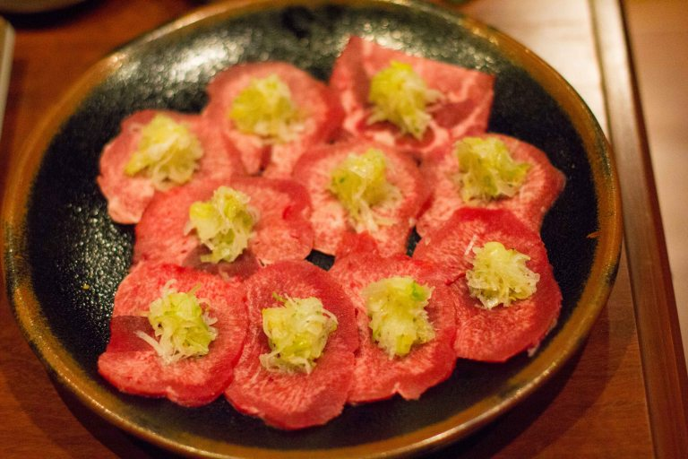 """Issunboushi Kyoto yakiniku tongue"""