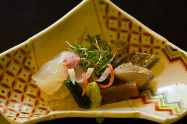 """Kikunoi Kyoto sashimi"""
