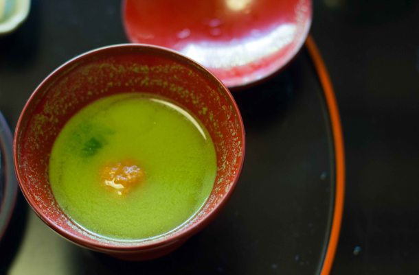 """Kikunoi Kyoto shrimp dumpling"""