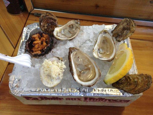 """Montreal Jean Talon oysters"""