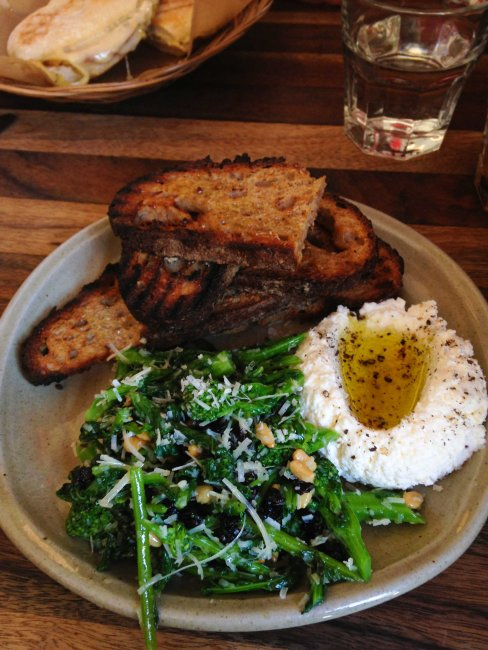Olive + Gourmando Montreal ricotta