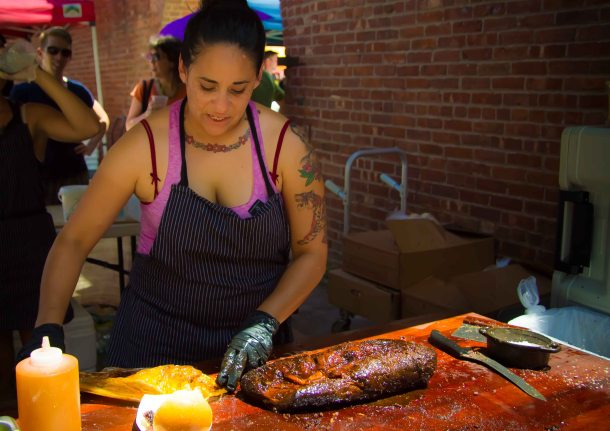 """Smorgasburg Brooklyn Mighty Quinns barbecue"""