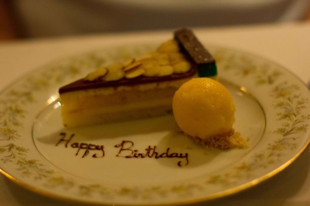 """Torrissi Italian Specialties rainbow cake"""
