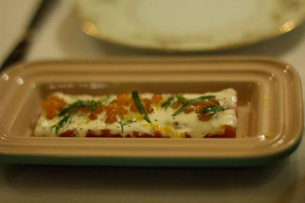 """Torrissi Italian Specialties salmon"""