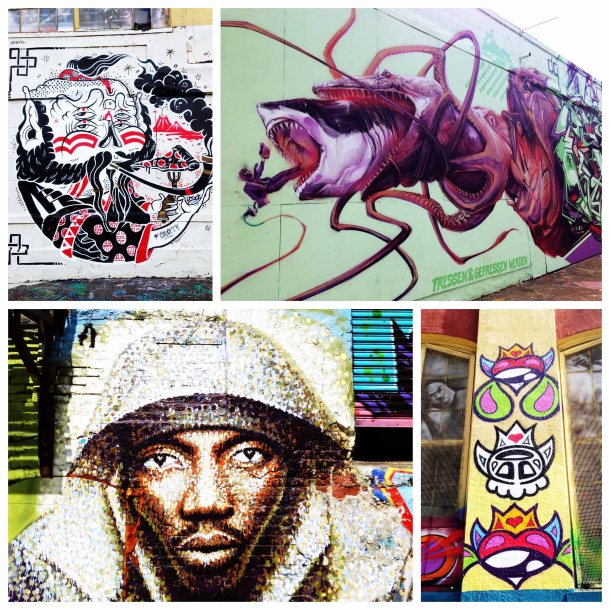 Just a few of the great pieces of work on the walls at 5 Pointz.