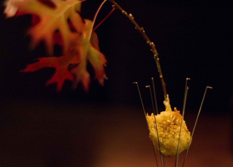 """Alinea Achatz burning oak"""