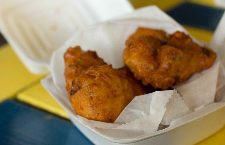 """Chef Creole Miami conch fritter"""