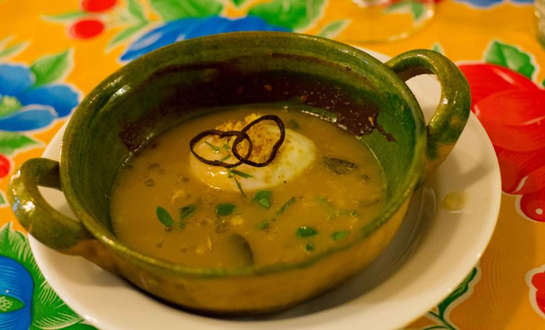 """""""Oaxaca Origen Castellanos garbanzo soup"""""""