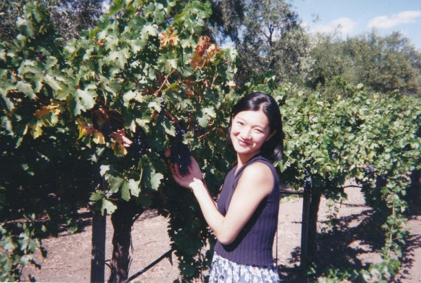 Standing at the Beringer vineyards at 21 years old. and my first experience with win
