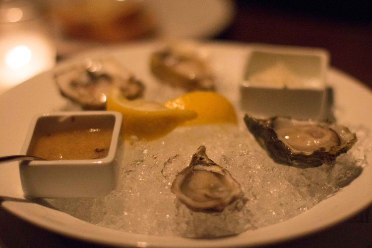 If it's on the menu, I have a hard time not ordering oysters.