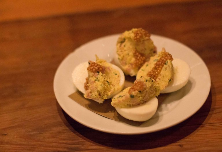 """Charleston Butcher Bee devilled egg"""