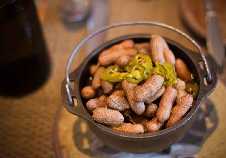 """""""Husk Charleston Brock peanuts"""""""