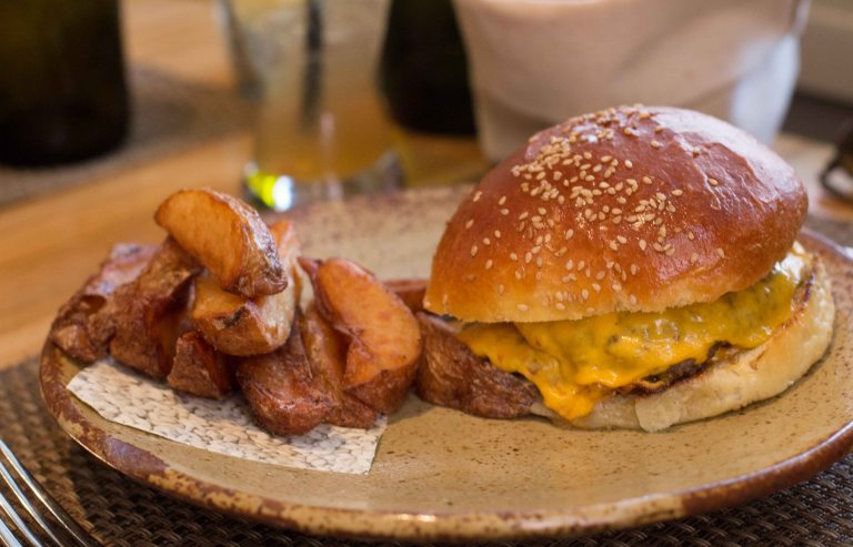 """Husk Charleston Sean Brock burger"""