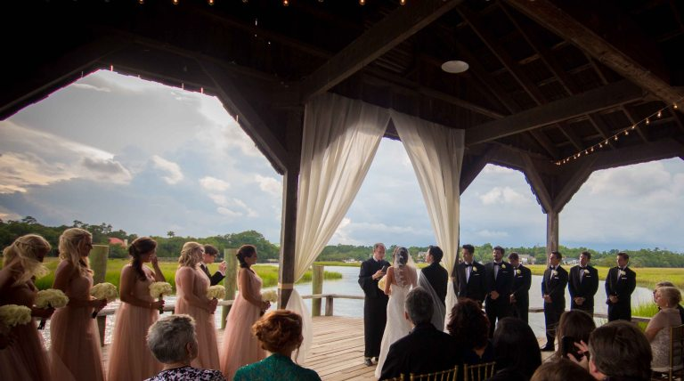 Ceremony on the Boon Hall Cotton Dock