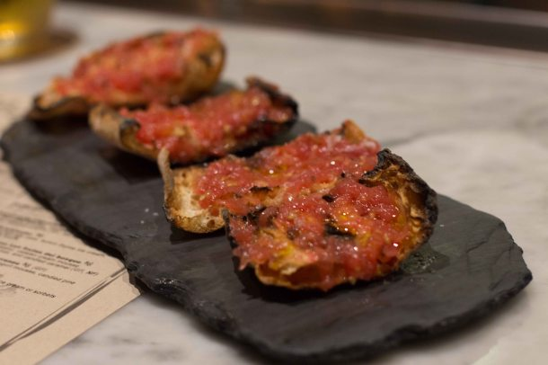 """Pan con tomate is so simple, but hard to do properly. This had all the components of """"just right""""."""