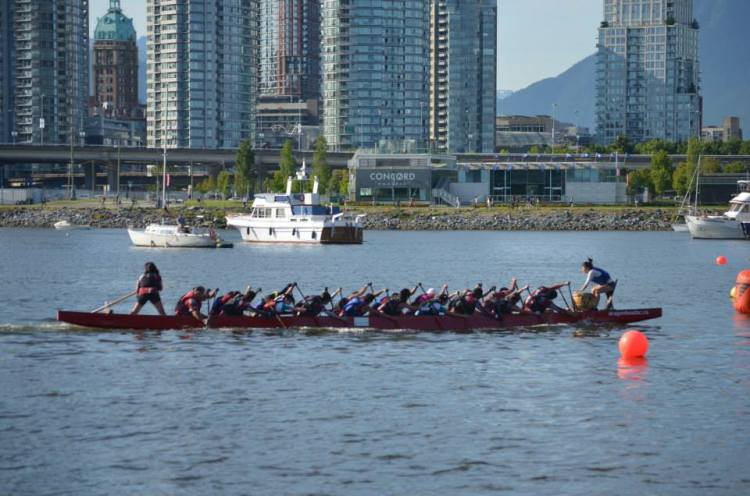 Me, (seat 4) racing with the Aerodragons from Long Beach, CA at the Rio TInto festival in Vancouver.