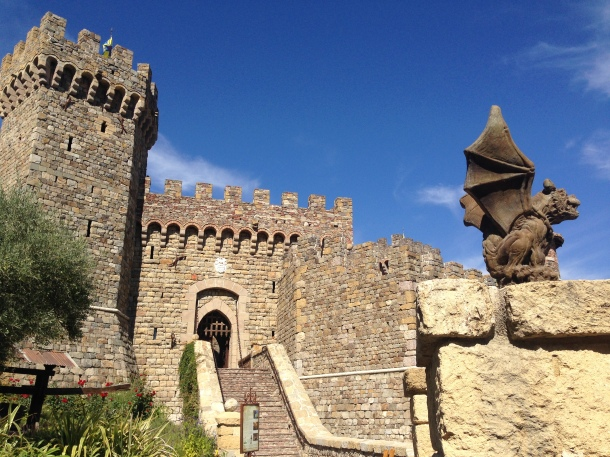 "Castello di Amarosa... ""It's a real castle!!! And a winery!!!"" I love my friend Manabu's enthusiasm."