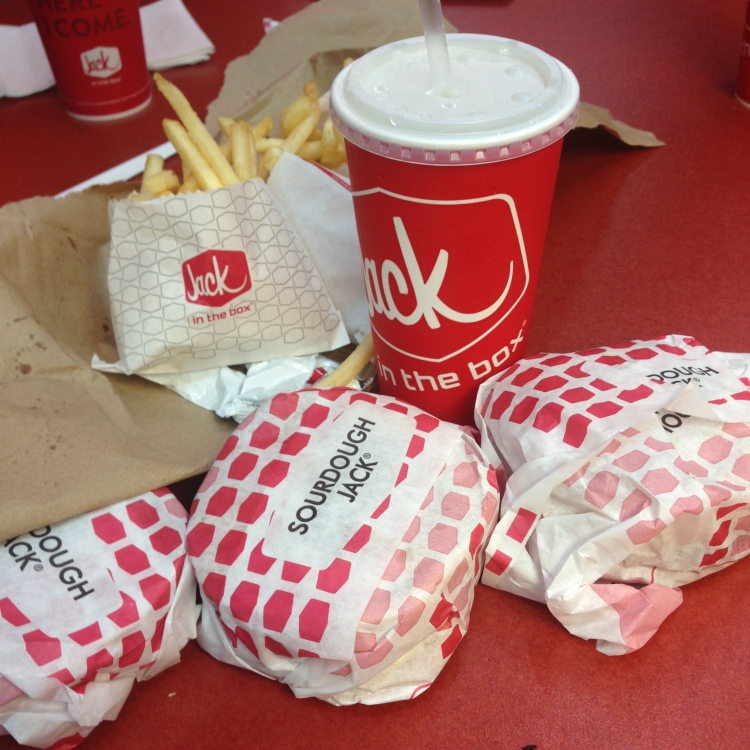 I've never been to Jack in the Box before, so this meal was super exciting for me.