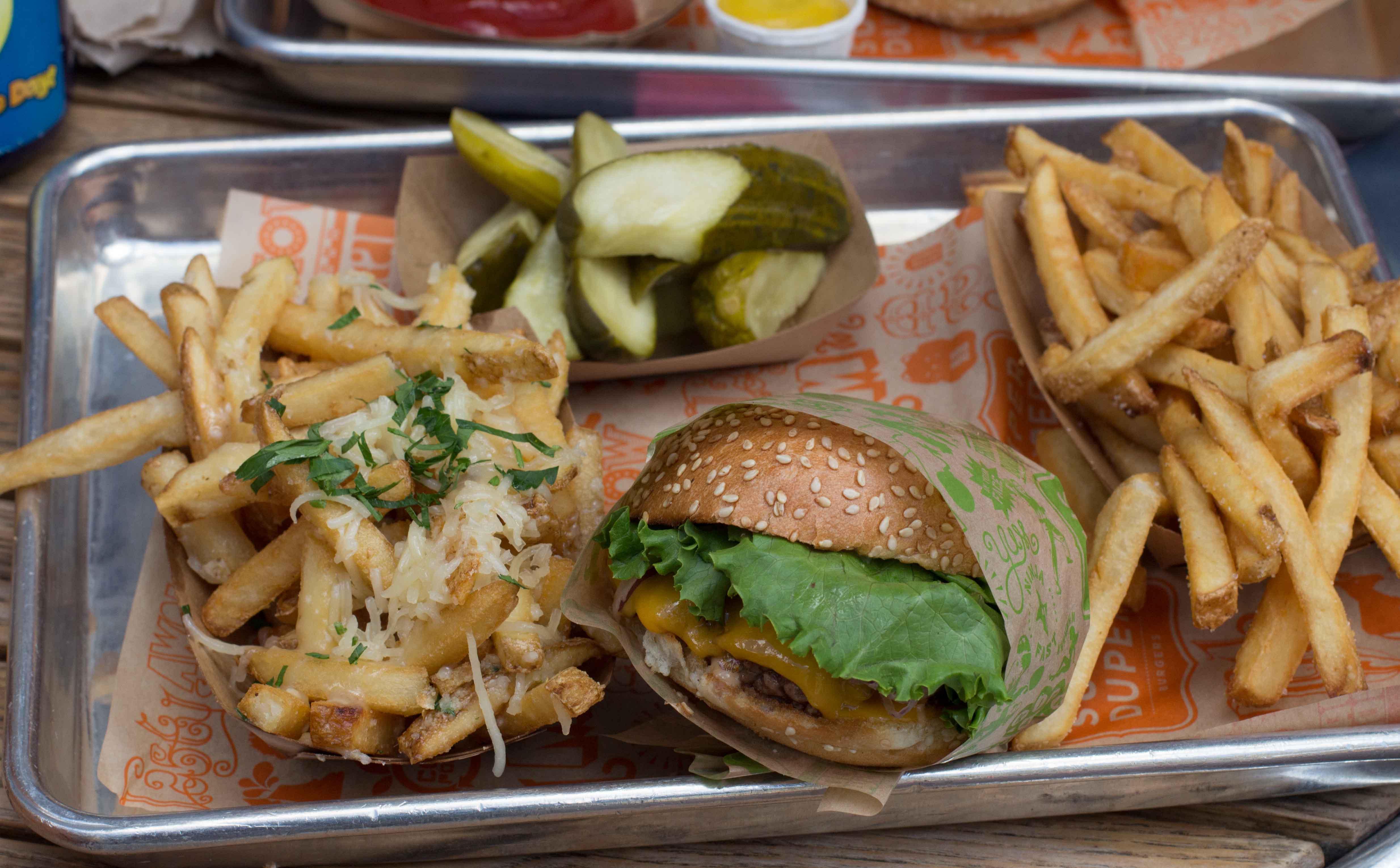 Super Duper Burger Garlic Fries Super Duper Burger With a Side
