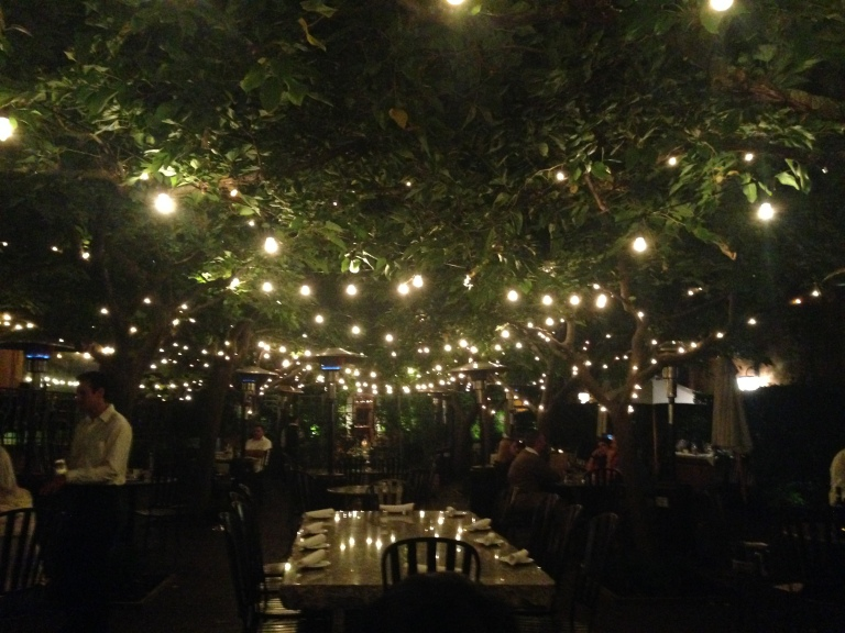 The patio was as magical as I remembered and getting to enjoy it in late September made it even more special.